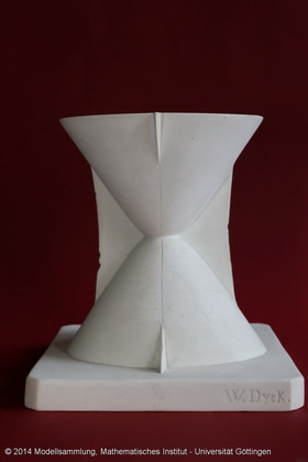 Curvature centre point surface of the single-leaf hyperboloid