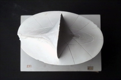 Curvature centre point surface of the triaxial ellipsoid